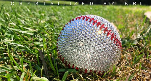 Custom Made Houston Astros Crystallized Baseball Mlb Game Sized Sports Bling Swarovski Crystals Bedazzled
