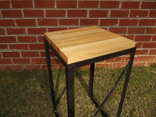 Custom Made Butcher Block End Table