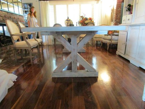 Custom Made Reclaimed Wood Dining Table And 2 Leaves