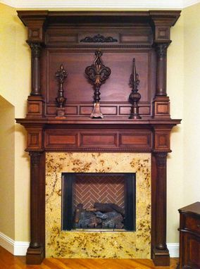 Custom Made Fluted Column Indianapolis Mantel
