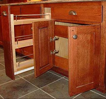 Custom Made Mission Style Solid Oak Kitchen Cabinets