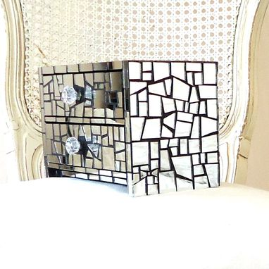 Custom Made Mirror Mosaic Jewelry Box - 2 Drawers