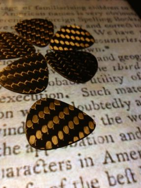 Custom Made Genuine Carbon Fiber Guitar Picks (Set Of 4)