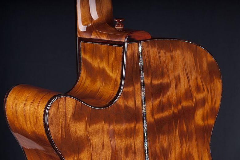 handmade kiwi model williams signature whitebait acoustic guitar by laurie williams guitars. Black Bedroom Furniture Sets. Home Design Ideas