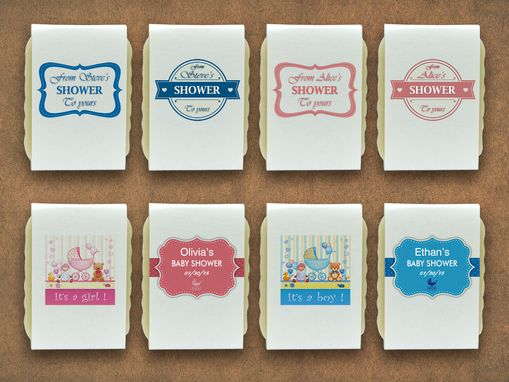 Custom Made 20 Personalized Baby Shower Soaps