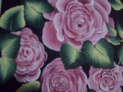 Custom Made Original Painting On Masonite Titled: Bunch Of Roses