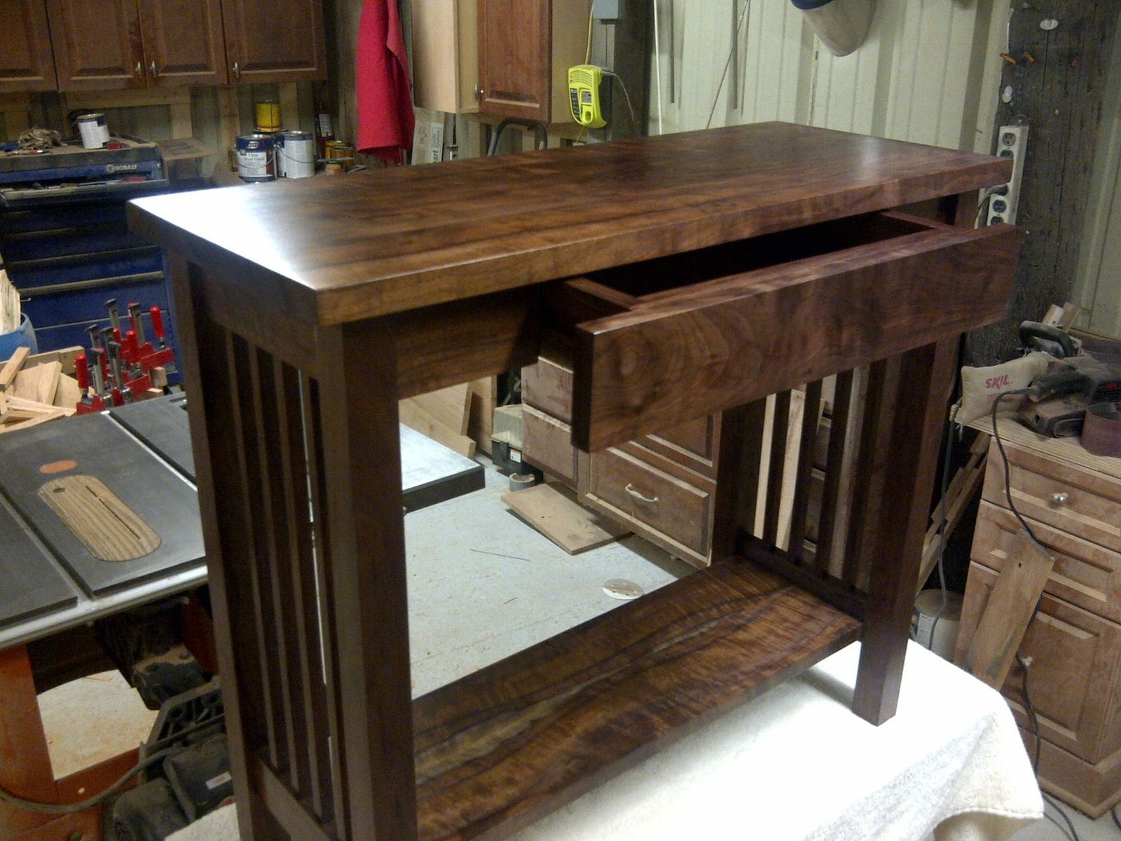 Hand Crafted Mission Style Walnut Sofa Table By Db Custom Wood Shop |  CustomMade