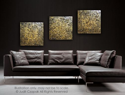 Custom Made Original Modern Textured Painting On Canvas