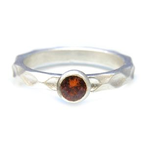 Custom Made Custom™ Collection Spessartine Garnet Stackable