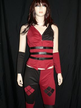 Custom Made Harley Quinn Costume - Batman, Arkham Asylum