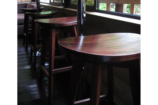 Custom Made Hand-Cupped Swivel Bar Stool