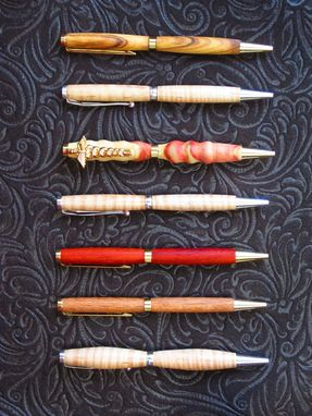 Custom Made Custom Turned Wood Pens.
