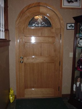 Custom Made Hickory Entrance Door