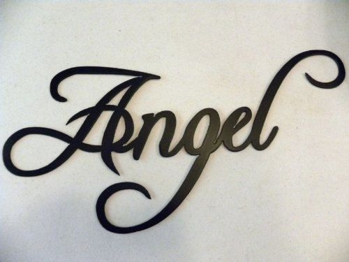 Angel Word Decorative Metal Wall Art Home Decor