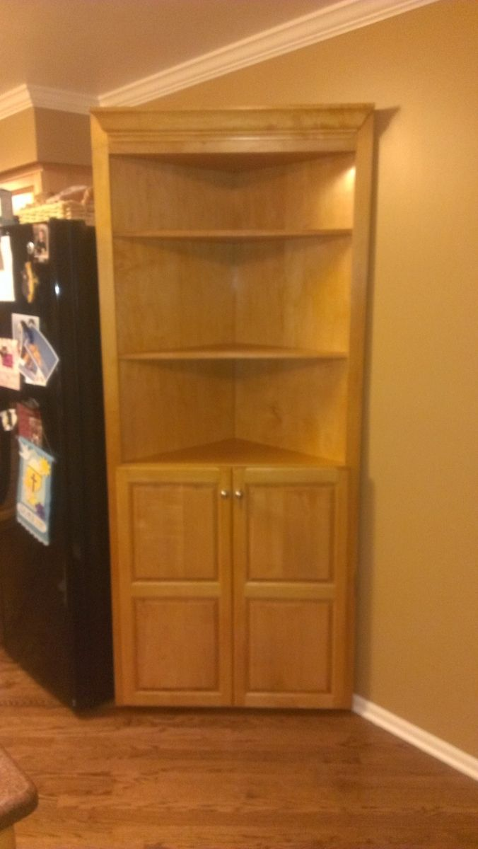 Custom made corner cabinet by fearons fine woodworking for Corner cabinet