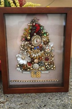 Custom Made Vintage Heirloom Jewelry Shadow Box