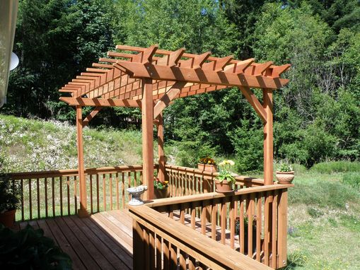 Custom Made 8ft. X 8ft. Redwood Pergola 1910 Super Deck Finish