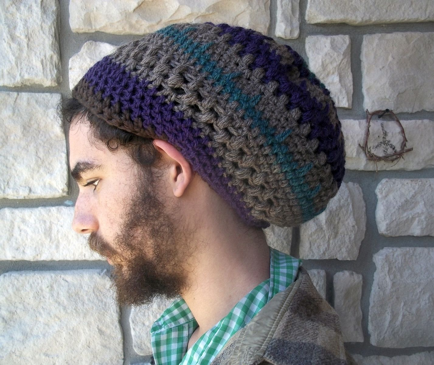 Custom Made Slouchy Tam Hat Made Of Natural Wool And Or Organic Cotton 97d0df2cb20