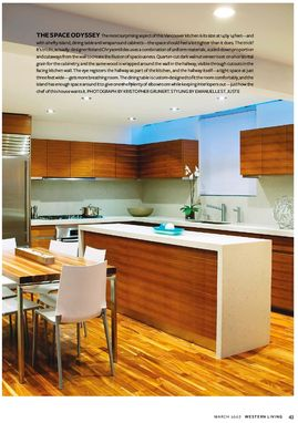 Custom Made Walnut Veneer Kitchen