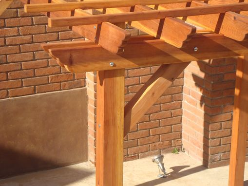 Custom Made 10ft X 10ft Redwood Pergola 1905 Super Deck Finish