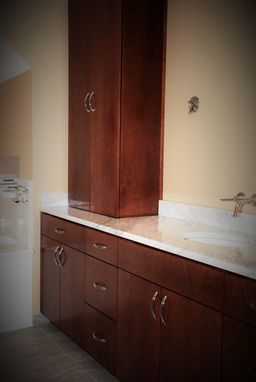 Custom Made Jacomo Bathroom Vanity And Linen Cabinet