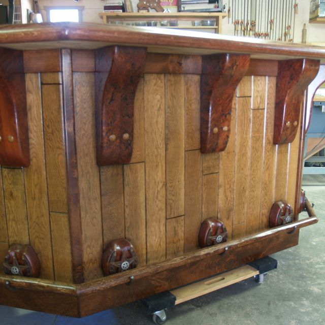 Hand Crafted Rustic Western Bar by Art Of Wood | CustomMade.com