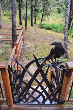 Custom Made Hand Forged Steel Crow Gate