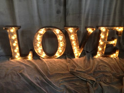 Custom Made Marquee Letters 24 Inch Tall Love Sign White Steel