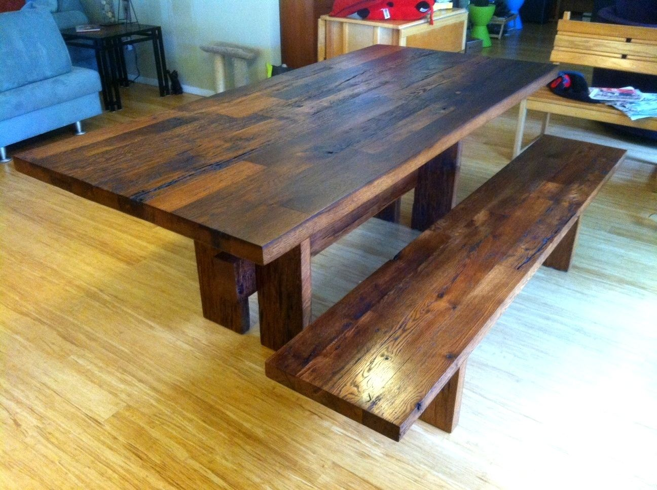 Custom Made Reclaimed White Oak Dining Room Table by Brett ...