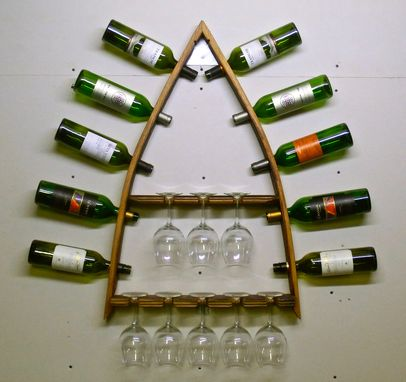 Custom Made Steeple Duo - Barrel Stave Wine Rack