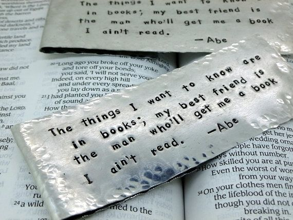 buy hand made custom metal bookmarks made to order from snappin