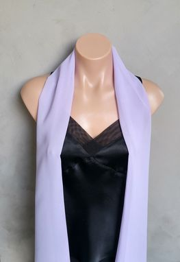 Custom Made Lavender Chiffon Scarf
