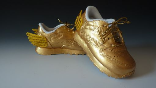 Custom Made Golden Shoes -- Painted Shoes