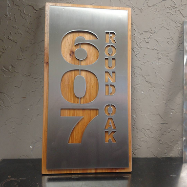 Custom Made Stainless Steel Address Marker