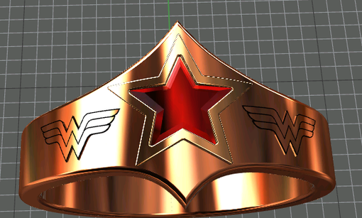 Custom Made Wonder Woman Tiara Engagement Ring