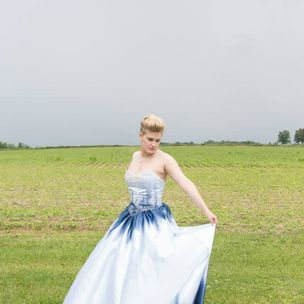 8803b366a0 Custom Alice In Wonderland Wedding Dress by