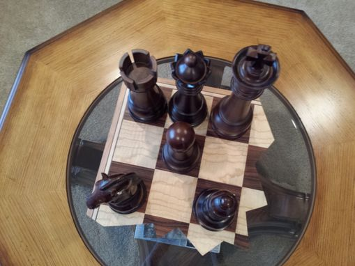 Custom Made Shattered Chess Board Display Piece