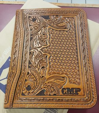 Custom Made Custom Hand Tooled Leather Portfolios (Made To Order)