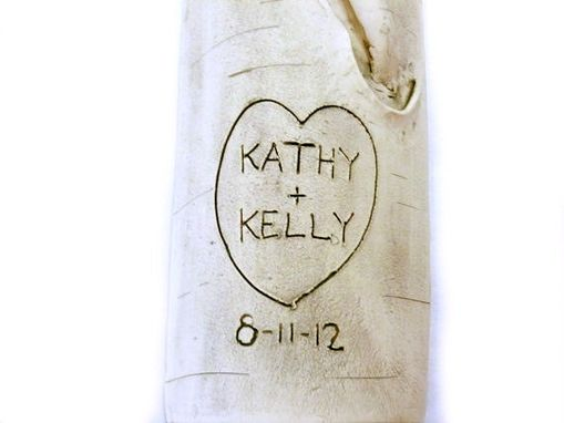 Custom Made Personalized Wedding Aspen Or Birch Log Wall Hanging