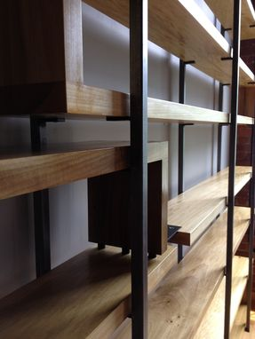Handmade Wood And Steel Floating Book Shelves By Object A Custommade Com