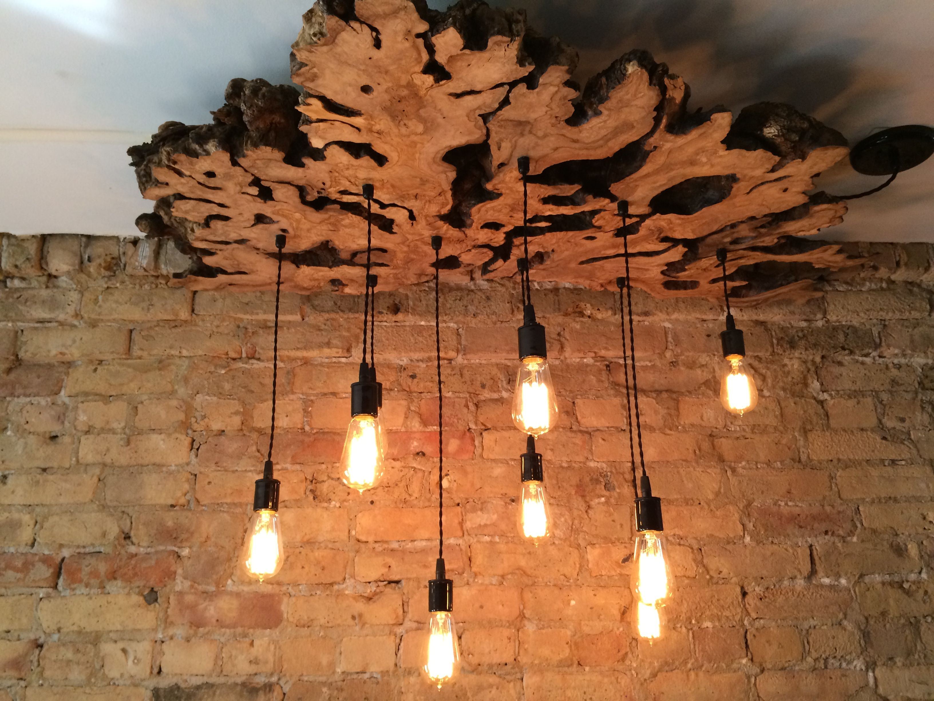 Handmade Extra Large Live Edge Olive Wood Chandelier Rustic And Light Fixture By 7m Woodworking Custommade