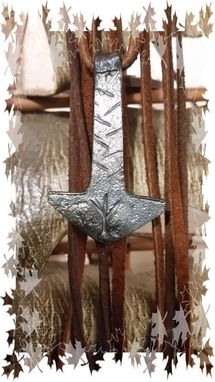 Custom Made Hand Forged Thor's Hammer With Custom Rune Or 3 Initals