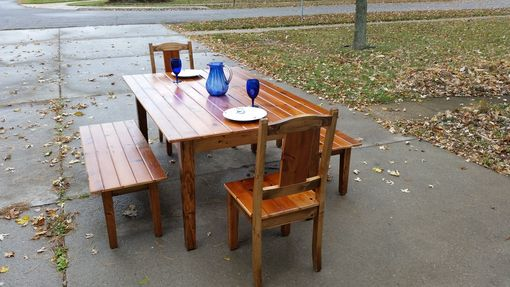Custom Made Custom Dining Table Chairs And Benches