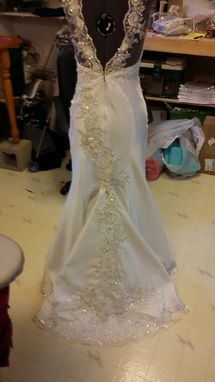 Custom Made Stunning Beaded Lace Appliqued Wedding Gown