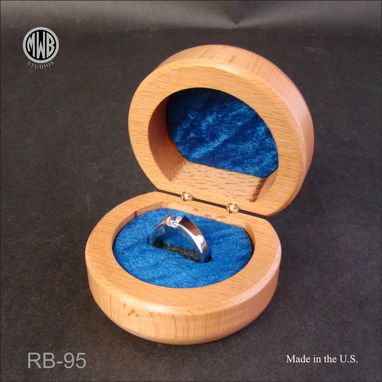 Custom Made Inlaid Dolphin Ring Box With Free Engraving And Shipping. Rb-95