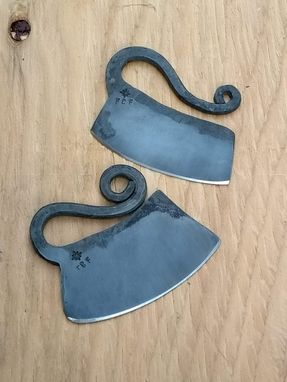 Custom Made Firecreekforge.Com Hand Forged Ulu Knife Herb Chopper Cheese Knife From Upcycled