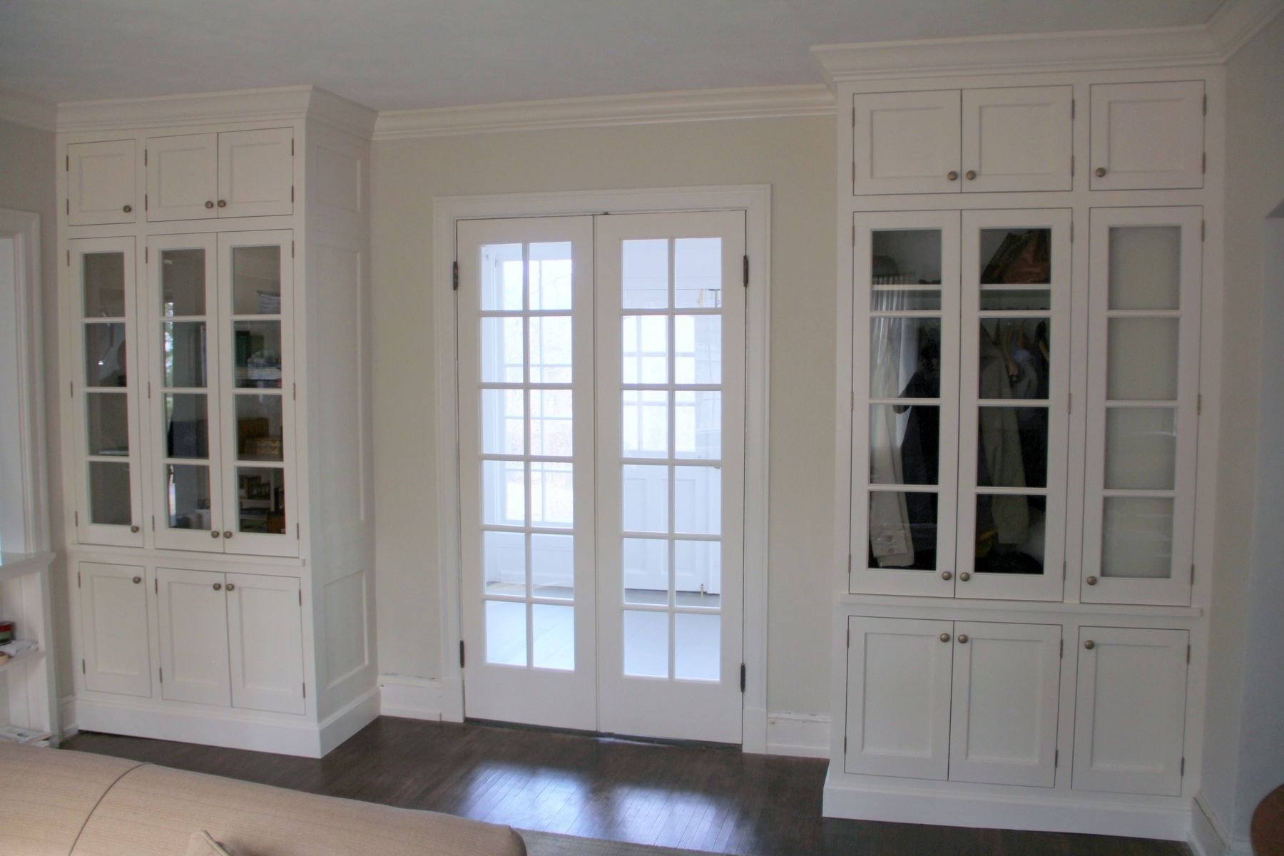 Hand Made Double French Doors And Matching Built Ins By