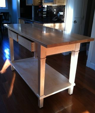 hand made solid maple kitchen prep table $1500-$2500alps wood