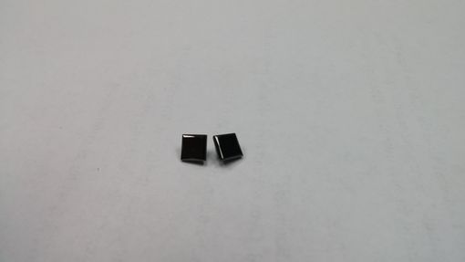 Custom Made 2.38 Cts Princess Cut Black Diamond Earring