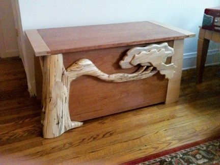 Custom Made Blanket Chest With Tree